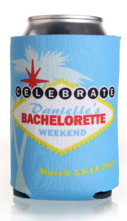 Vegas Bachelorette Party Full Color Can Coolers #koozies