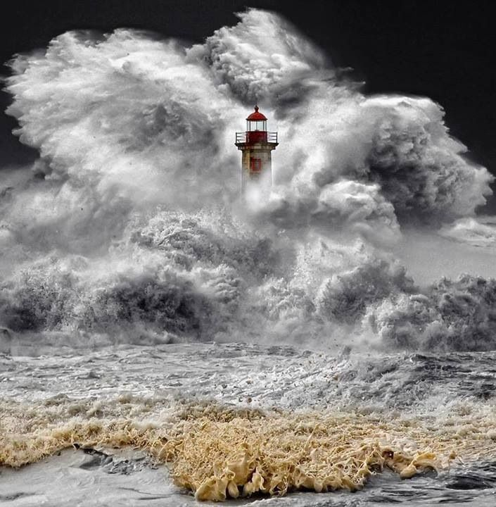 Portugal winter atlantic storm
