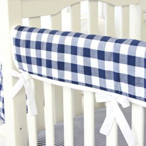 Baby Blue Gingham Cot Bedding