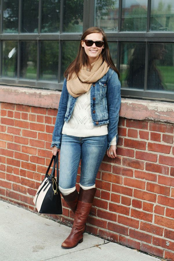 my outfit: fall scarf!