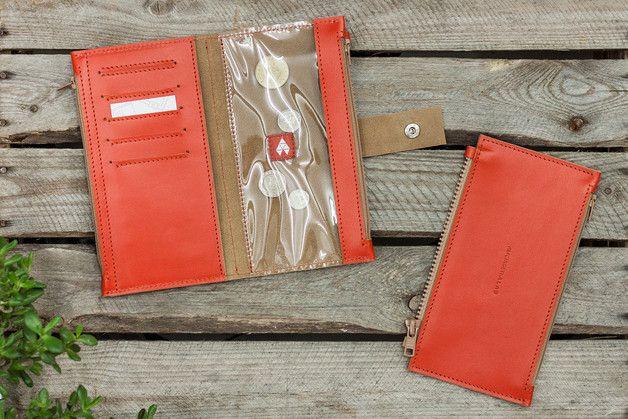 Pocket MAXI / Red Brown - portfel ze skóry - AlicjaGetkaLab - Portfele