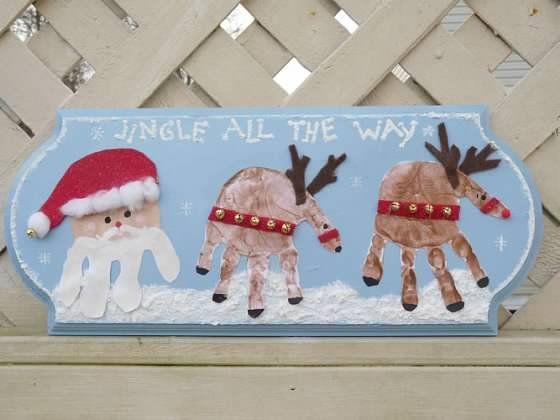 One Artsy Mama: Christmas Handprint Plaque