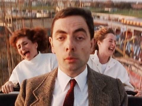 Quick Clip----Mr Bean - Roller-coaster---Mr Bean takes a ride on a roller coaster but is unimpressed. From Mind the Baby Mr Bean.