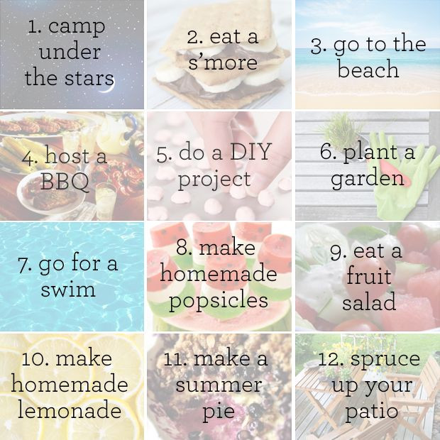 12 things you must do before summer ends #bucketlist