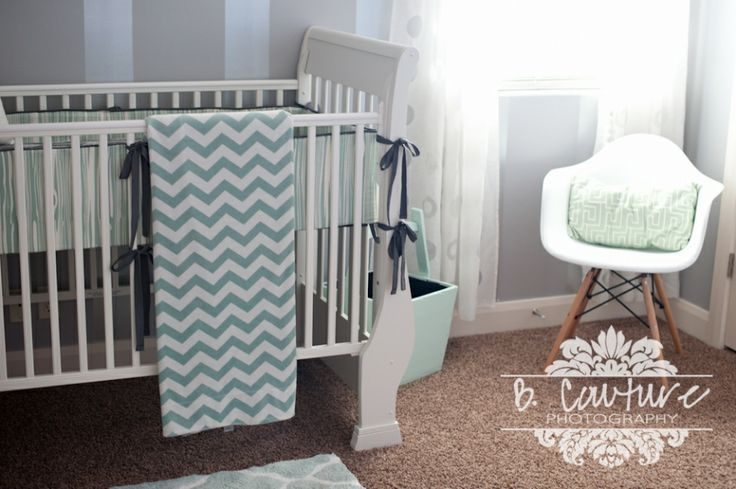 arrow baby nurseries | Grey and Mint Arrow Themed Nursery I love the colors of the bumper