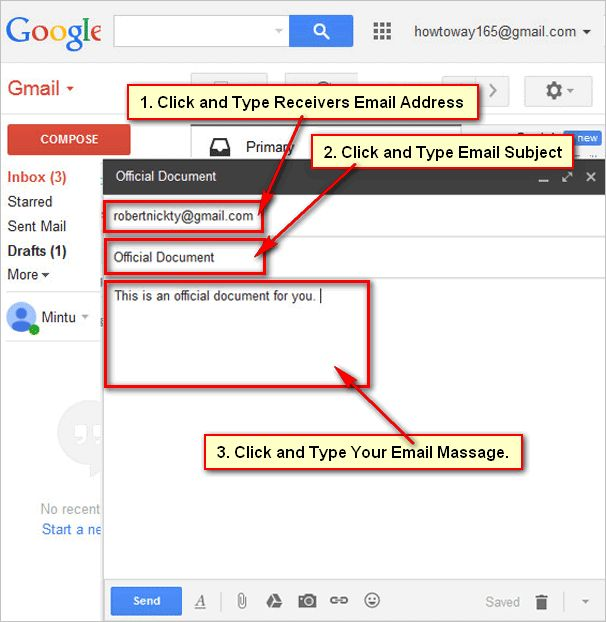 How To Add And Send An Email With Attachment File Using Gmail Email Gmail Send An Email
