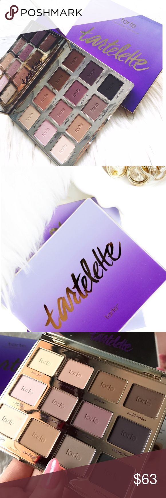 NEW Tartelette Amazonian Clay Eyeshadow Palette Authentic Guaranteed! Tartelette all-matte palette with 12 exclusive eye shadows. What it does: by popular demand, Tarte is introducing an all-matte shadow palette featuring 12 never-before-seen shades to inspire, celebrate, and empower real women. This sleek, palette features Tarte's signature Amazonian clay-infused, long-wear eye shadows in a mix of liner, lid, and crease shadow shades.✨Offers always taken into consideration but please no…