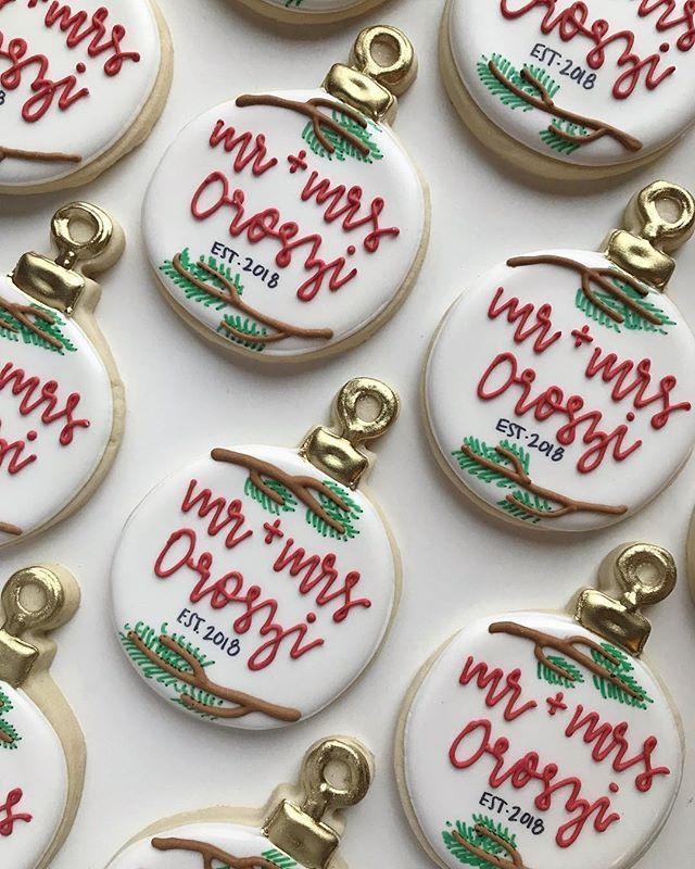 Christmas Wedding Cookies Photo Theflyingkey Instagram