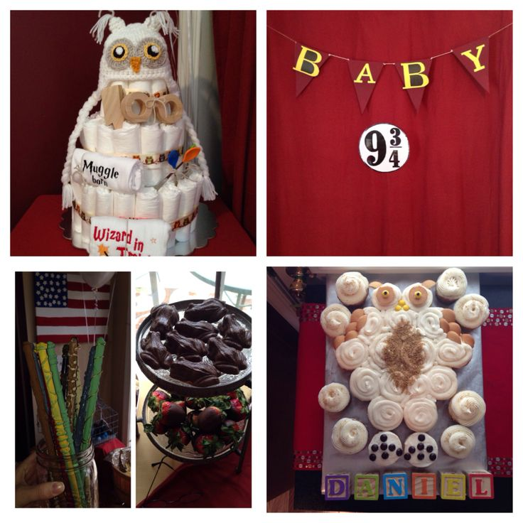 harry potter baby shower diaper cake wands chocolate frogs owl