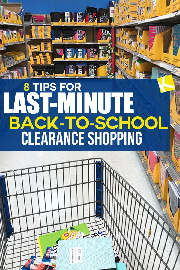 8 Tips For Last Minute Back To School Clearance Shopping Store
