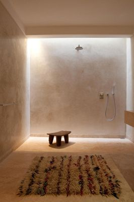 minimal but earthy shower by Muskelil. Use of light is attractive!!!#Repin By:Pinterest++ for iPad#