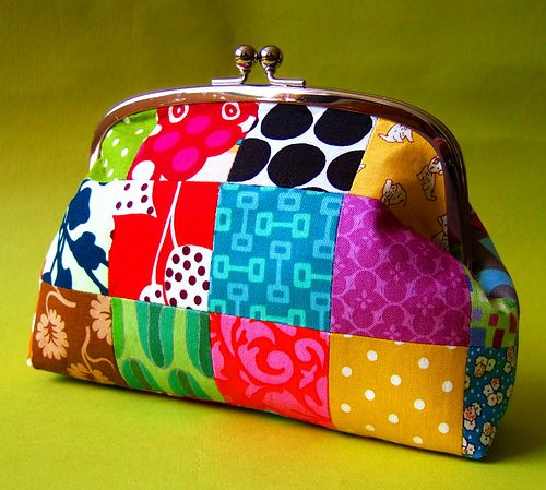 patchwork pouch.