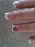 Poinsettia nails - 2012  Professionails Solana Beach CA