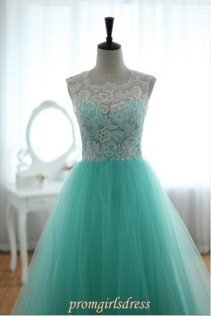 Prom Dress Strapless Lace Prom Dress Long by Promgirlsdress