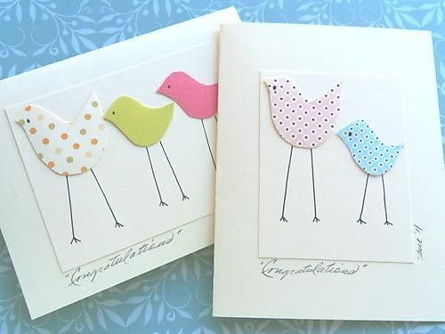 Welcome Baby Card - Congratulations on Baby Card - Baby Shower Card - Welcome Twins Card - MBTC. $3.00, via Etsy.