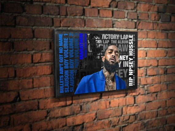 Nipsey Hussle Canvas art RIP Nipsey hip hop wall art studio