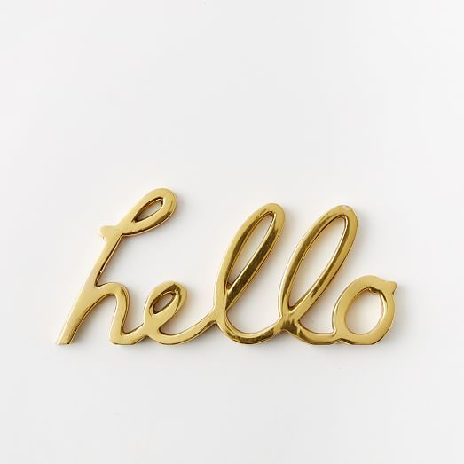 brass hello | west elm
