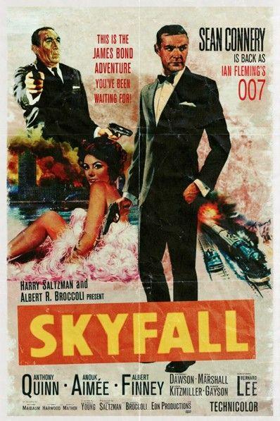 Vintage James Bond Skyfall movie poster