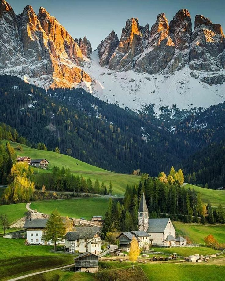 The Dolomites. A Rocky Mountain Landscape. 46°36′47″N 12°9