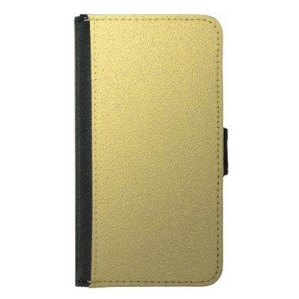 Gold Metallic Foil Effect Samsung Galaxy S5 Wallet Case - metal style gift ideas unique diy personalize