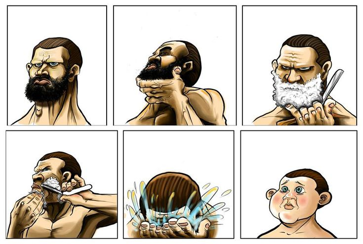 Hehe how my man looks if he ever shaves- rare but funny