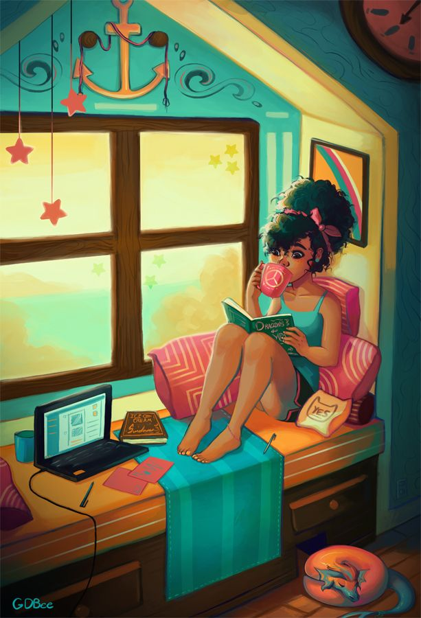 prinnay: Nothing like relaxing on a nice day with a good book and a faithful pet :)