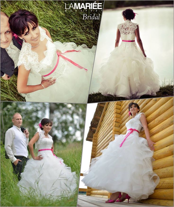 Andrea bride by La Mariée Budapest bridal #Leante dress by Pronoviashttp://lamariee.hu/eskuvoi-ruha/pronovias-2015/leante