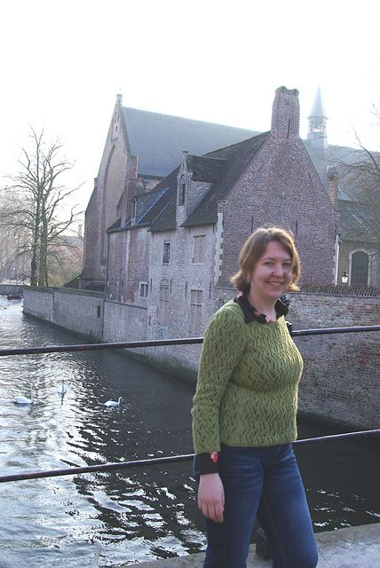 This Anniken Allis sweater design is fantastic, and I wear it all the time. Here seen in Bruges