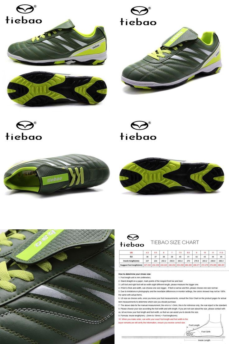 [Visit to Buy] TIEBAO Brand Soccer Shoes TF Turf Outdoor Men Women Football Boots Athletic Trainers Sports Adults Sneakers zapatos de futbol #Advertisement