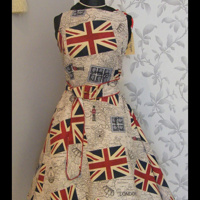 Vintage union jack dress ~ Love, Love, Love!!!