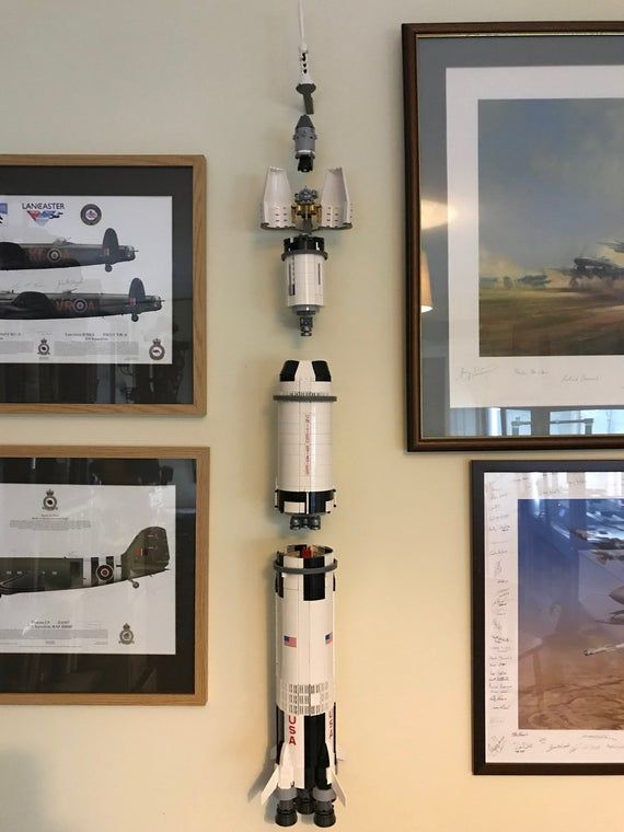 Wall Mounting Kit For Displaying Apollo Saturn V Rocket In 2021 Lego Display Saturn Lego