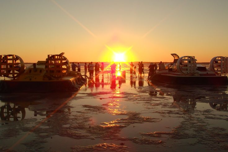 Join a hovercraft tour in #broome to see a magical #sunset