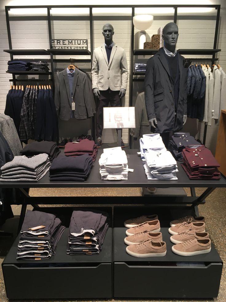 PREMIUM by JACK & JONES section in Field's store in Copenhagen #visualmerchandising