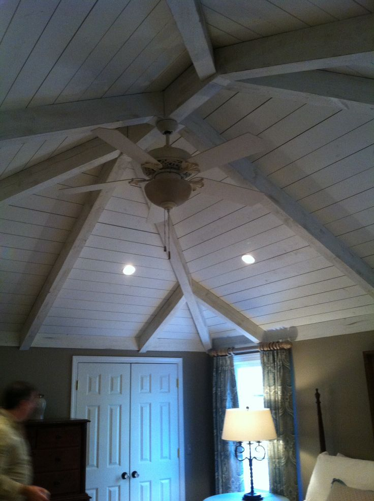 Vaulted wood plank and beam ceiling | MACGREGOR'S PROJECTS | Pinterest