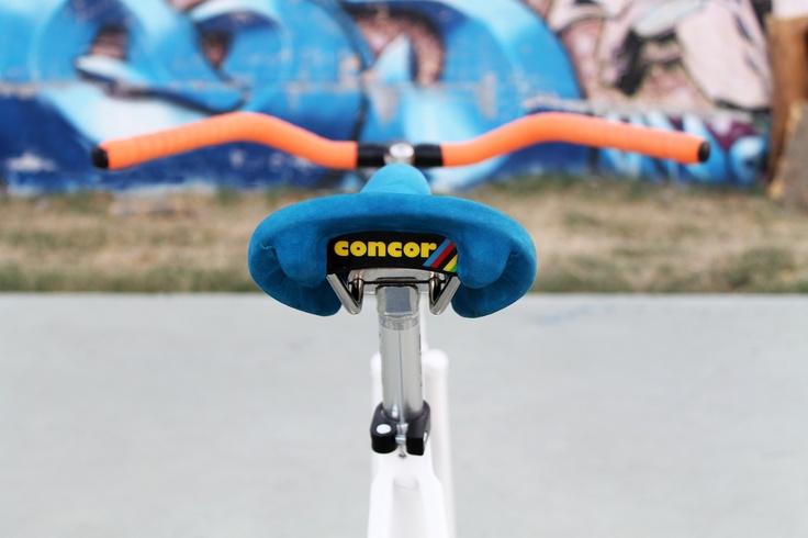 Blue suede Concor saddle