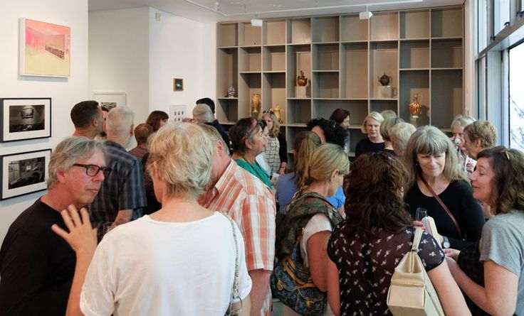 Opening of Chez Karangahape, first exhibition at the new Gallery on Upper Queen St on 22 March 2015. Photo courtesy Artsdiary