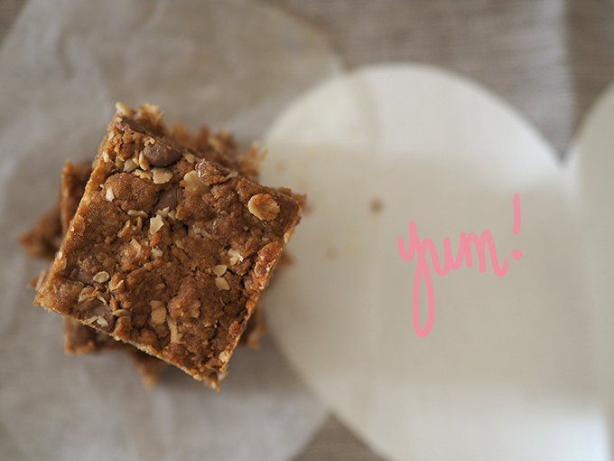 Anzac slice recipe with choc-chips