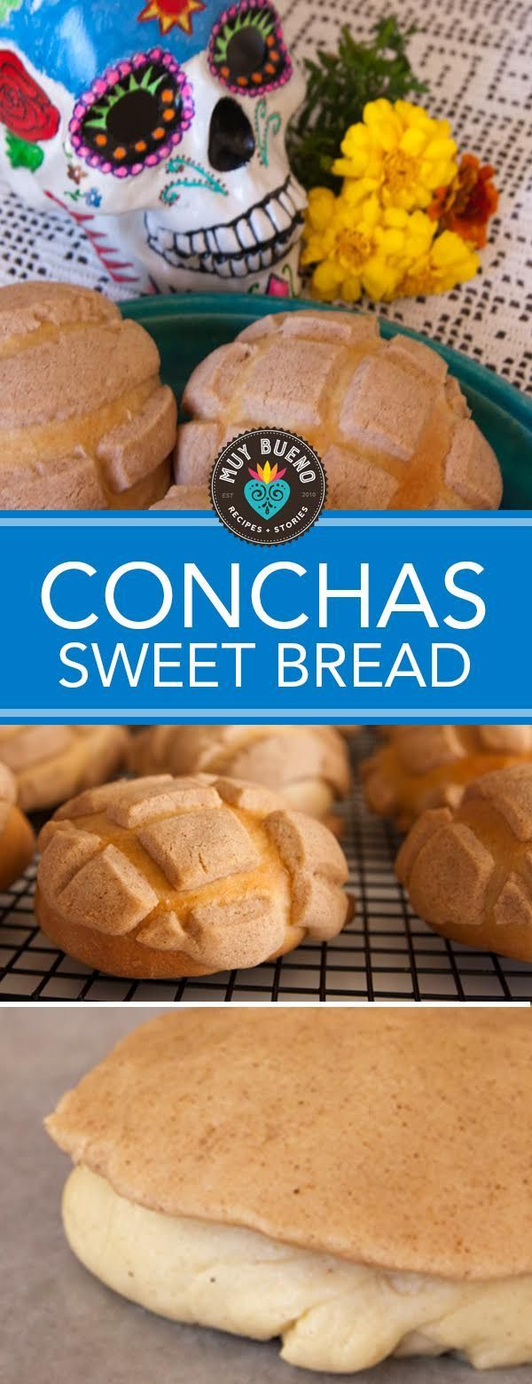 "Conchas. Conchas (shells) are a Mexican pastry that is famous for its shape of a shell. The pastry contains a sugar shell pattern on the top. This is one of the most famous Mexican pastries recognized in the United States. It is also referred to as ""pan de huevo"". Accompany this Mexican sweet bread with a hot cup of coffee or champurrado and the first warm bite will melt in your mouth. Conchas have a sweet hardened crust, and the inside is thick, soft, and fluffy."
