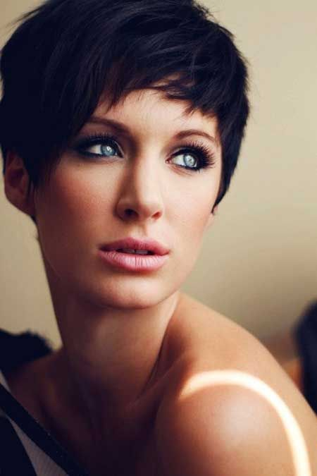popular haircuts cool and charming black pixie cut with alluring bangs and 5670