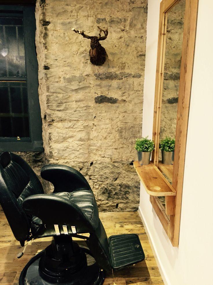 Salon interior design.  Eco salon.  Reclaimed wood. Edinburgh.