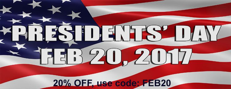 Happy Presidents' Day! 20% Off on all products from http://www.yingfa.us. Use coupon code: FEB20 to avail this deal.