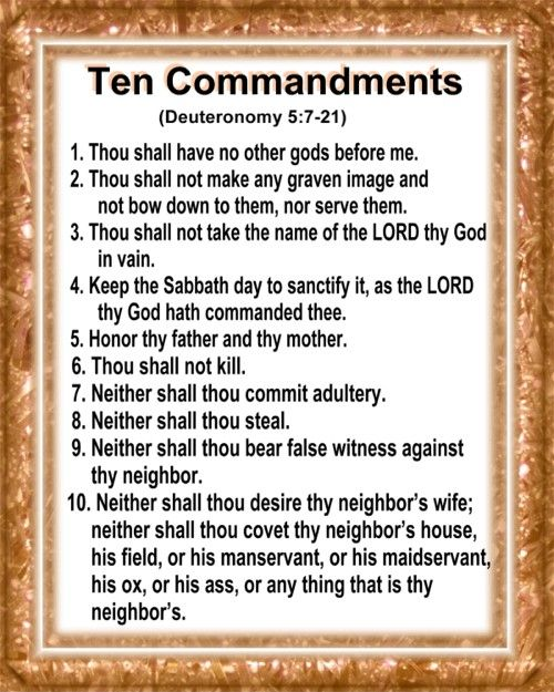Zany image in kjv ten commandments printable