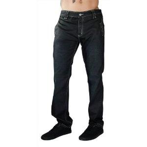 """F.U.S.A.I. Jeans Wax Coated 32"""" Inseam Dark Wash Denim Mens Slim Straight Pants (Apparel)"""
