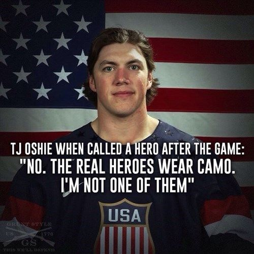 T.J. Oshie After Beating the Russians. I'm your fan, T.J.!