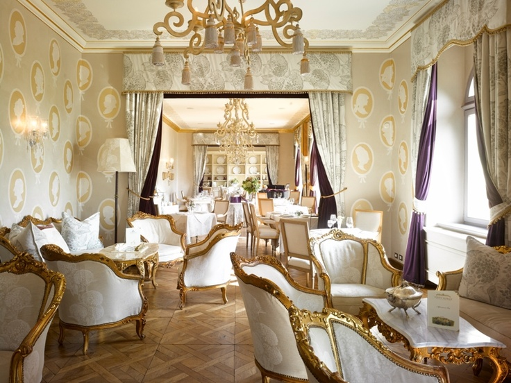 The Royal lounge at Hotel Chateau Mcely, Czech