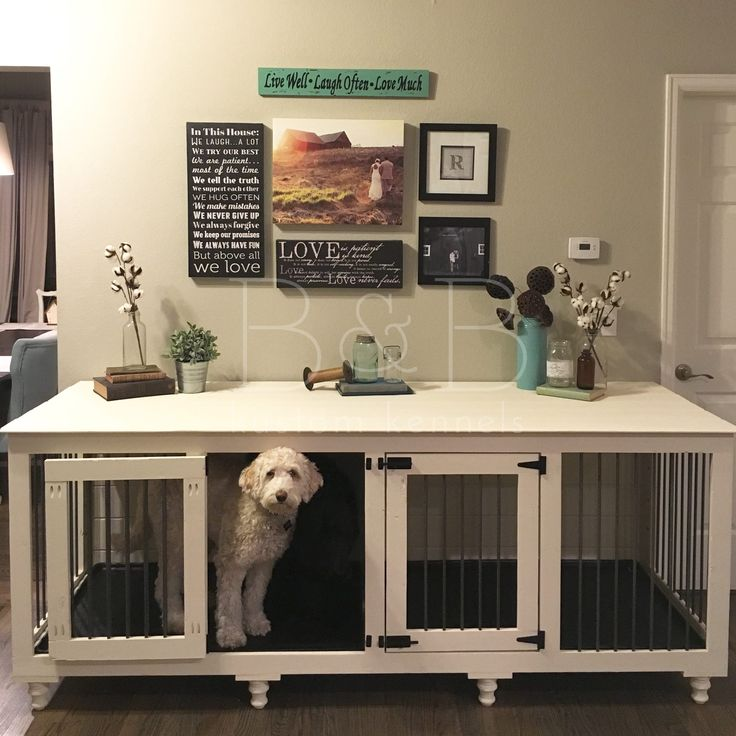 Double doggie den doggies and indoor for Diy crate furniture