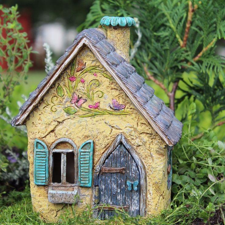 Captivating Miniature Fairy Garden Brookside Cottage