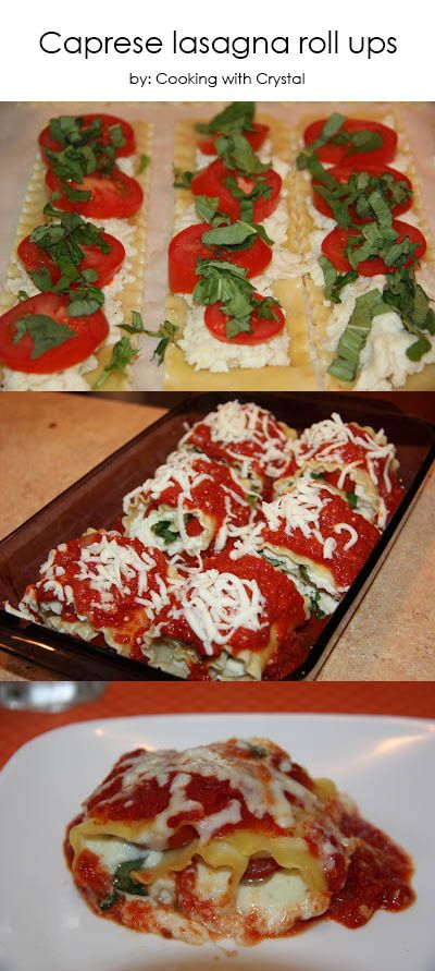 Caprese lasagna roll ups ...YUM!  - Collecting up my prior pins here for re-casting on new boards.