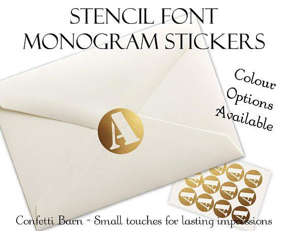 25  best ideas about monogram stickers on pinterest