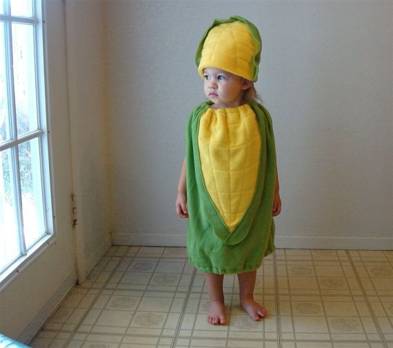 Baby Corn on the Cob Costume Hallowen Infant Toddler Newborn Twin Set Vegetable Purim Photo Prop Boy Girl